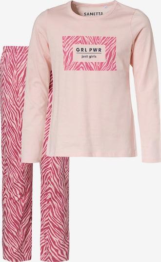 SANETTA Pyjama in creme / pitaya, Produktansicht