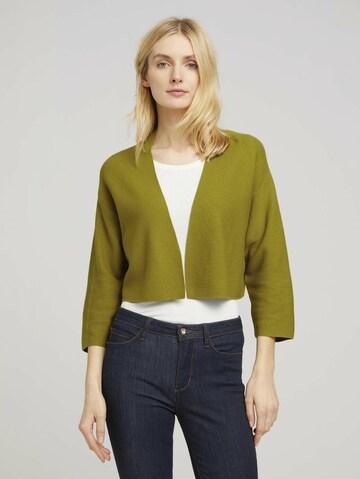 Cardigan TOM TAILOR en vert