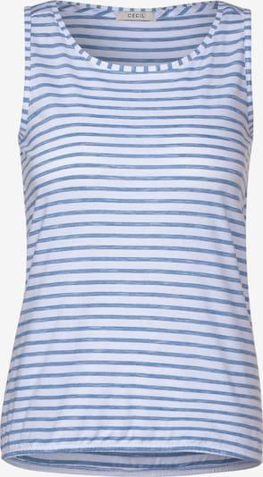 CECIL Top mit Streifenmuster in blau, Produktansicht