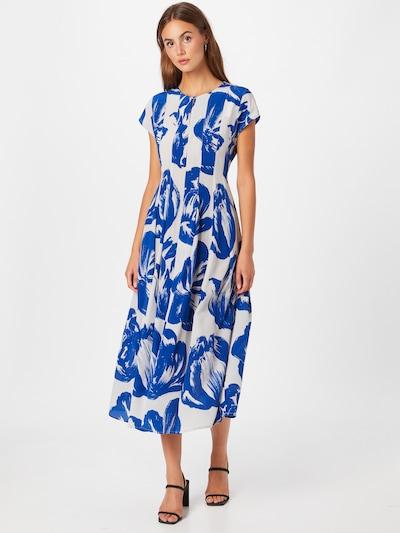 WOOD WOOD Koktejlové šaty - tmavě modrá / bílá, Model/ka