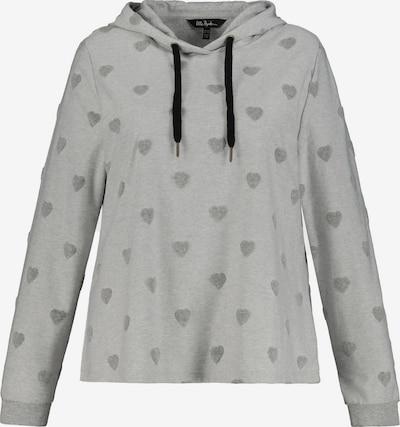 Ulla Popken Sweat-shirt en gris / gris clair, Vue avec produit