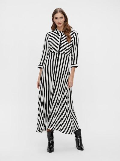 Y.A.S Robe-chemise 'Savanna' en noir / blanc, Vue avec modèle