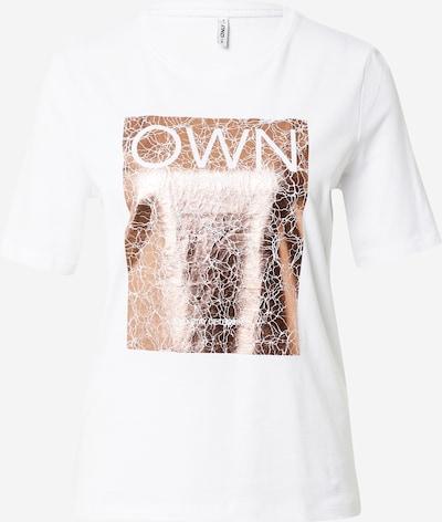 ONLY T-shirt i roséguld / vit, Produktvy