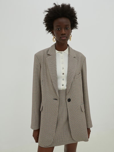EDITED Blazer 'Daphne' in beige / mixed colours / red, View model