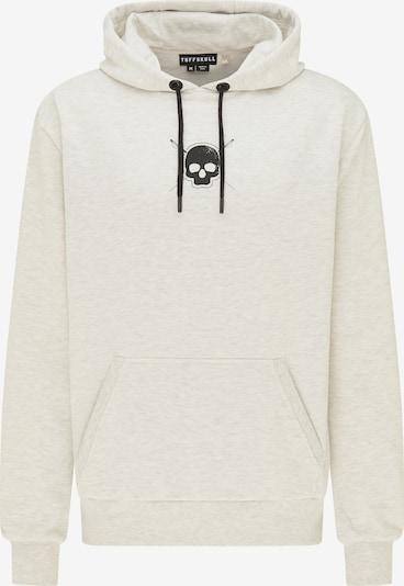 TUFFSKULL Sweatshirt in graumeliert / schwarz, Produktansicht
