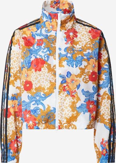 ADIDAS ORIGINALS Prijelazna jakna u svijetloplava / svijetlosmeđa / crvena / crna / bijela, Pregled proizvoda