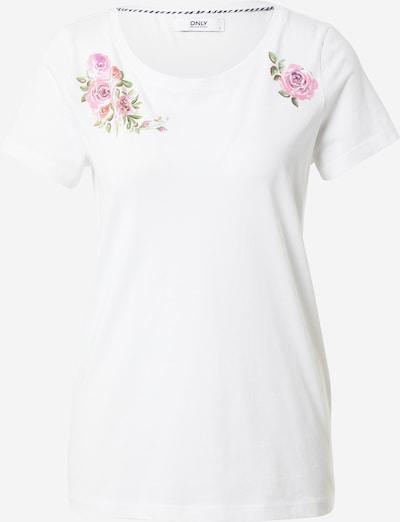 ONLY Tričko 'KITA' - zelená / ružová / biela, Produkt