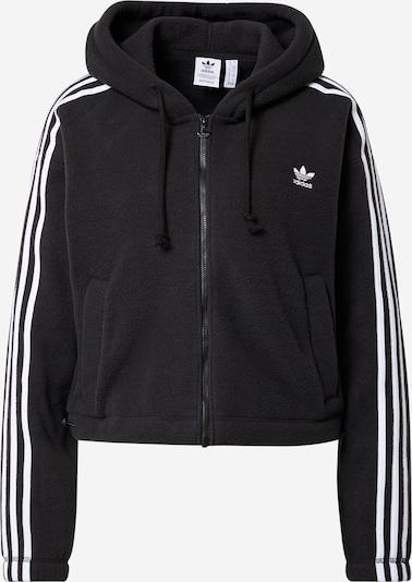 ADIDAS ORIGINALS Поларено яке в черно / бяло, Преглед на продукта
