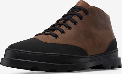 CAMPER Chaussure à lacets 'Brutus' en marron / noir: Vue de face