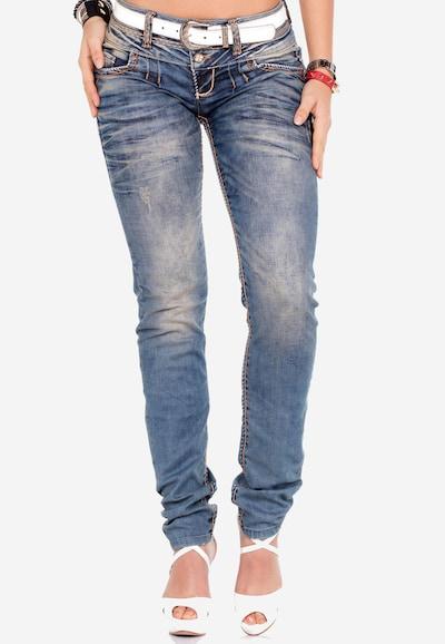 CIPO & BAXX Jeans in de kleur Blauw denim, Modelweergave