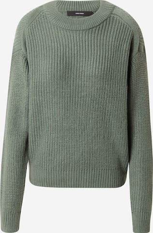 VERO MODA Пуловер 'LEALUX' в зелено