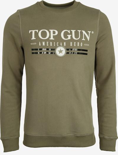 TOP GUN Sweatshirt in khaki / schwarz / weiß, Produktansicht