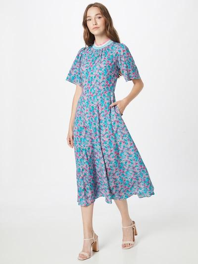 Closet London Kleid in himmelblau / mischfarben, Modelansicht