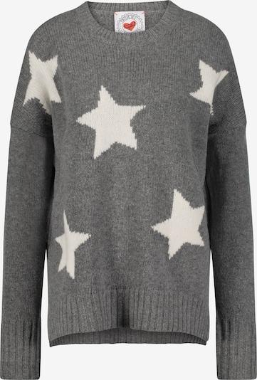 Frogbox Strickpullover 'STARS' in grau / weiß, Produktansicht