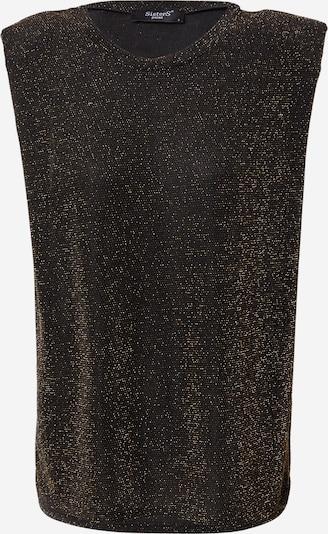 SISTERS POINT Top 'Cela' in de kleur Goud / Zwart, Productweergave