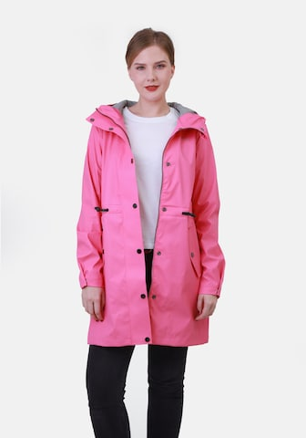 Dingy Rhythm Of The Rain Between-Seasons Coat 'Alice' in Pink