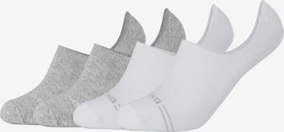 MUSTANG Füßlinge 'Scarlett' im 4er-Pack in grau / weiß, Produktansicht