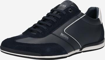 zils BOSS Casual Sporta apavi ar šņorēm 'Saturn'
