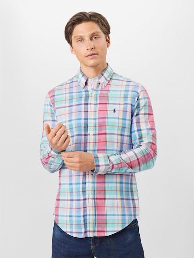 POLO RALPH LAUREN Košile 'CUBDPPCS' - modrá / žlutá / červená / bílá: Pohled zepředu