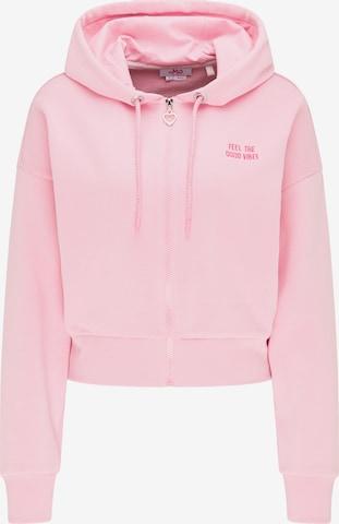 MYMO Zip-Up Hoodie in Pink