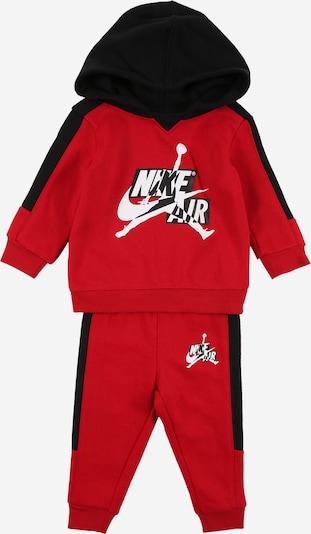Jordan Jogginganzug in rot / schwarz / weiß, Produktansicht