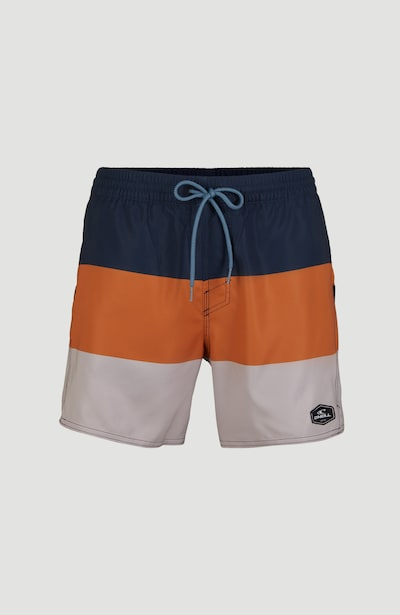 O'NEILL Boardshorts en bleu marine / gris clair / orange, Vue avec produit