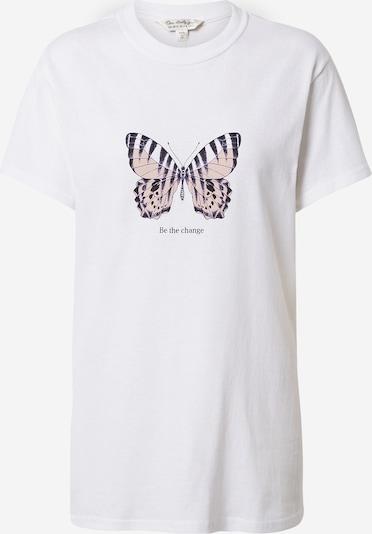 Miss Selfridge T-Shirt in dunkelblau / altrosa / weiß, Produktansicht