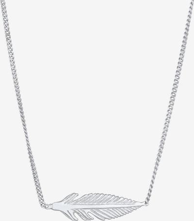 ELLI Halskette Boho, Feder in silber, Produktansicht