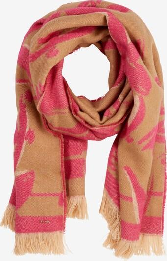 COMMA Schal in hellbraun / pink, Produktansicht