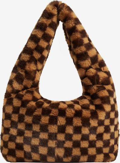 MANGO Axelremsväska 'Chess' i beige / choklad, Produktvy