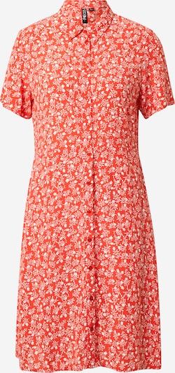 PIECES Kleid 'Rebecca' in orangerot / weiß, Produktansicht