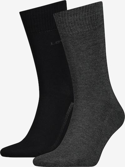 LEVI'S Socks in Dark grey / Black, Item view