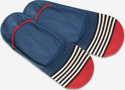 DillySocks Ankle socks 'IN20-04 Hidden Basic Liner' in blue / red / white, Item view