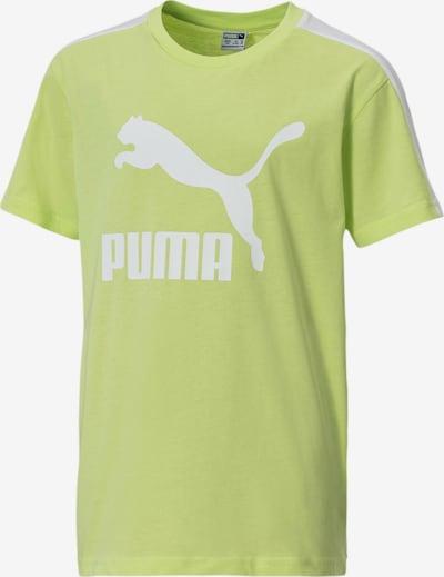PUMA T-Shirt fonctionnel en vert / blanc, Vue avec produit