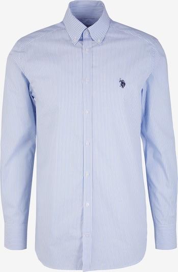 U.S. Polo Assn. Langarmhemd in blau, Produktansicht
