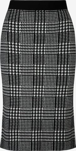 APART Strickrock aus softer Viskose Mischung mit Kaschmir in Schwarz