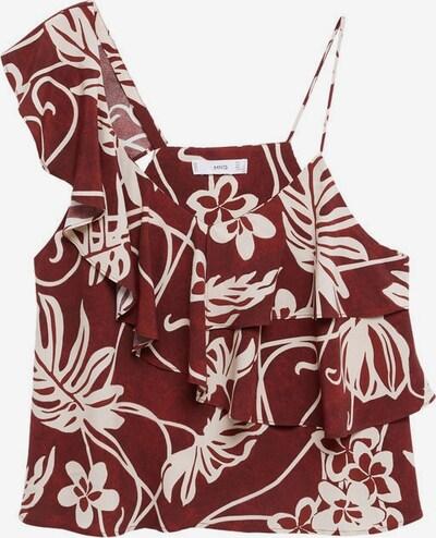 MANGO Top 'Lara' in de kleur Beige / Bordeaux, Productweergave