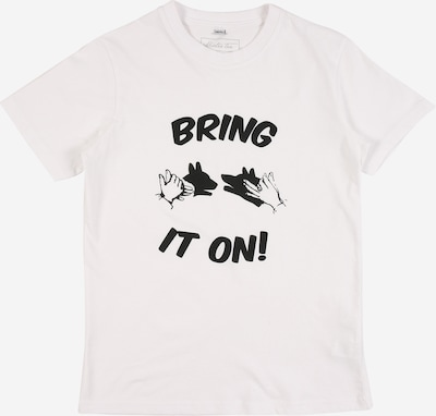 Mister Tee Shirt 'Bring It On' in schwarz / weiß, Produktansicht