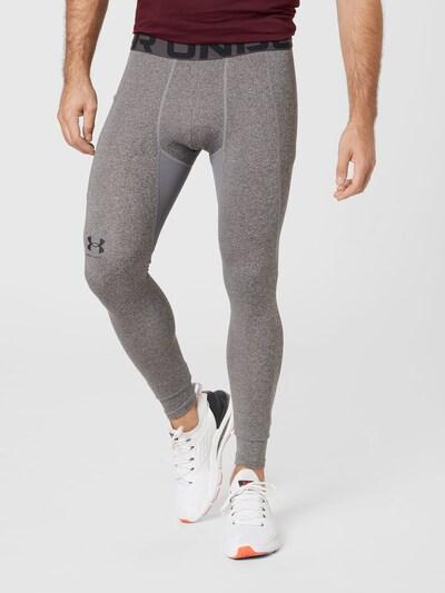 UNDER ARMOUR Športové nohavice - sivá melírovaná / čierna, Model/-ka