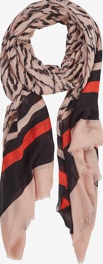s.Oliver BLACK LABEL Tuch in beige / nachtblau / dunkelbraun / rot, Produktansicht