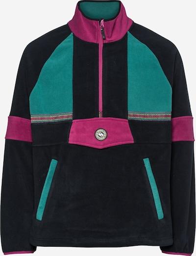 QUIKSILVER Sportsweatshirt 'SOUL POWER' in de kleur Jade groen / Pink / Zwart, Productweergave