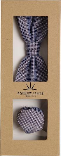 Andrew James Fliege und Einstecktuch in hellblau / dunkelbraun, Produktansicht