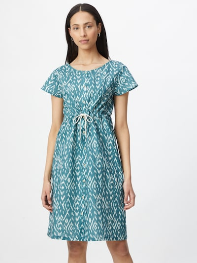 bleed clothing Kleid 'Ikatty' in blau / weiß, Modelansicht