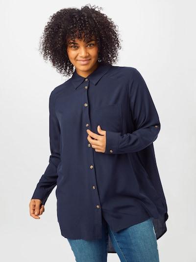 ONLY Carmakoma Bluse in blau, Modelansicht