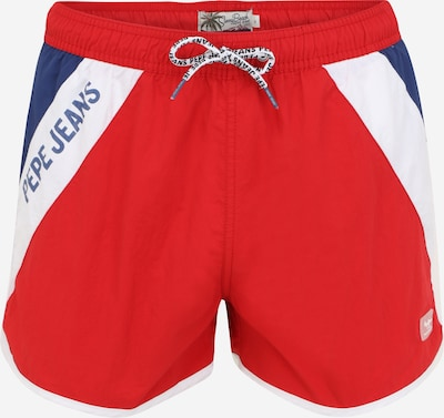 Pepe Jeans Zwemshorts 'TOMEO' in de kleur Navy / Rood / Wit, Productweergave