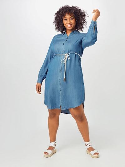 MY TRUE ME Blusenkleid mit Gürtel in blue denim, Modelansicht