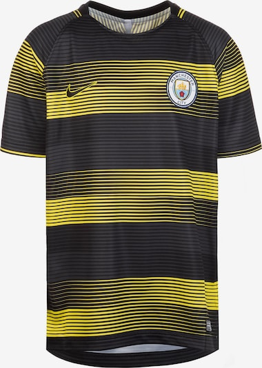 NIKE Trainingsshirt  'Manchester City Dry Squad GX ' in gelb / schwarz, Produktansicht