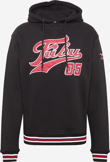 FUBU Majica | grenada / črna / bela barva, Prikaz izdelka