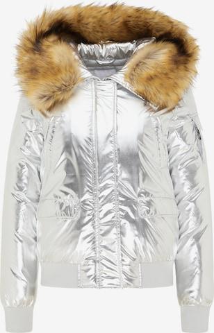 MYMO Χειμερινό μπουφάν σε ασημί