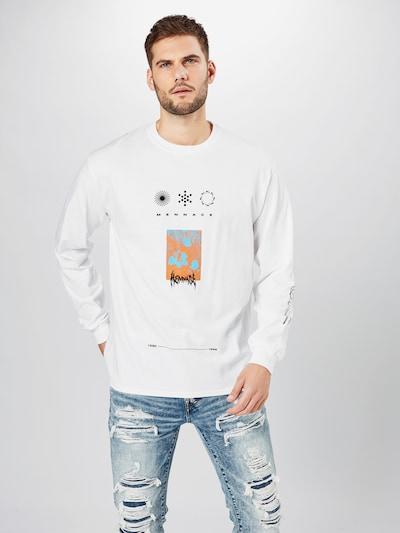 Marškinėliai 'SYMBOL' iš Mennace , spalva - šviesiai mėlyna / oranžinė / juoda / balta: Vaizdas iš priekio